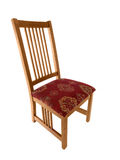 Wood Chair. Vintage wood craftsman style dinning room chair Stock Photo