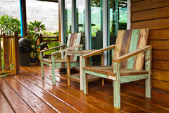 Wood chairs. Royalty Free Stock Images