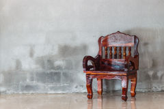 Wood chair furniture Stock Images