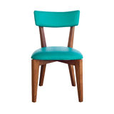 Wood chair green leather isolated with path Stock Photography