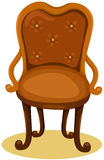 Wood chair. Illustration of isolated wood chair on white Stock Photography