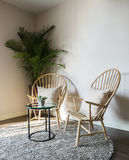 Wood chair in living room Stock Photography