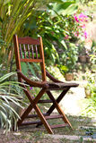 Wood Chair stand Stock Photo