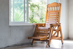 Wood chair and window Stock Photography