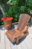 Wood chairs for relax Royalty Free Stock Photography