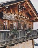 Wood chalet Trentino Royaltyfri Foto