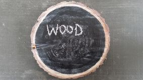 Wood chalkboard Stock Photos