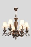 Wood chandelier Royalty Free Stock Photo