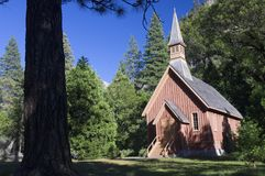 Wood chapel royalty free stock images