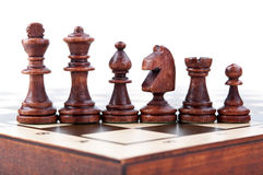 Wood chess pieces Royalty Free Stock Photography
