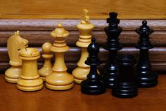 Wood Chess Pieces Stock Images