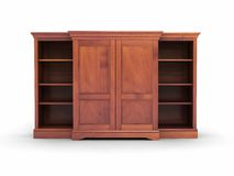Wood chest furniture Royalty Free Stock Photo