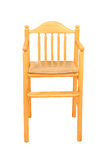 Wood children chair isolated Royalty Free Stock Image