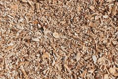 Wood chip background Stock Photography