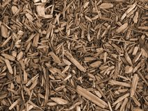 Wood Chip Background. This is a sepia toned background photo of a pattern of wood chips stock images