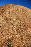 Wood chip pile Royalty Free Stock Image