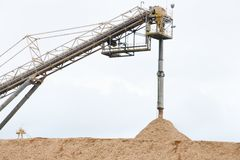 Wood Chip Processing Factory. In Australia stock photography