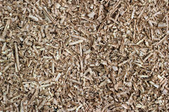 Wood chip shaving or shredded mulch material texture background Royalty Free Stock Photos