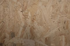 Wood chipboard background. Old panel Stock Photos