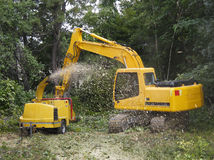 Wood chipper Royalty Free Stock Photo