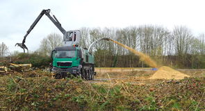 Wood chipper Stock Images