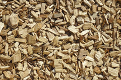 Wood Chippings. Closeup of wood chippings for backgrounds and fills royalty free stock photography