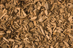 Wood Chippings. A Close View of Wood Chippings stock photo