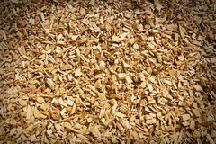 Wood chippings. With vignette edges for effect royalty free stock images