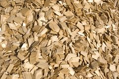 Wood chips. Royalty Free Stock Photo