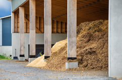 Wood chips for biofuel Royalty Free Stock Photography