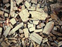 Wood chips. Broken wood chips Stock Photo