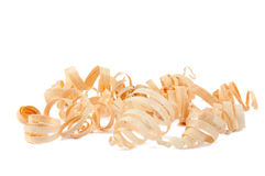 Wood chips isolated stock photography
