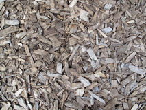 Wood Chips. A layer of aged wood chips ground cover Royalty Free Stock Photo