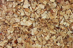 Wood chips background. Sawdust. Wallpaper. Wood chips background. Sawdust coming from a chainsaw, in a forest exploitation area. Wallpaper Royalty Free Stock Photos