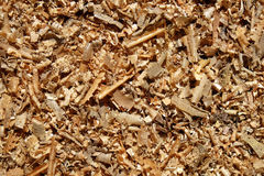 Wood chips and sawdust Royalty Free Stock Photos