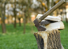 Wood chop Stock Photography