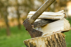 Wood chop Royalty Free Stock Images
