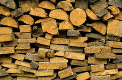 Wood chopped for fireplace Royalty Free Stock Photos