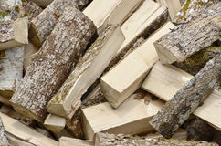 Wood chopped. Chopped wood ready to be burned in the chimney Stock Photo