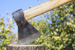 Wood chopper Stock Photo