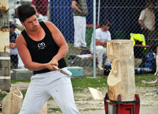 Wood Chopping at the 2012 Canterbury A&P Show Royalty Free Stock Image