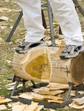 Wood Chopping. Competition Wood Chopping Royalty Free Stock Photography