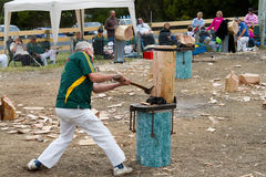 Wood chopping event royalty free stock images