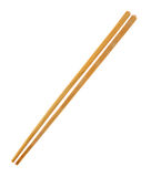 Wood chopsticks on a white Stock Photos