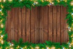 Wood Christmas Backdrop Stock Photos