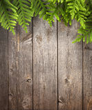 Wood Christmas Tree Background stock photo