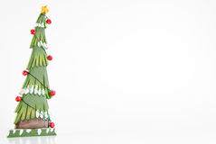 Wood Christmas Tree Frame Stock Images