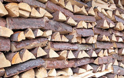 Wood chunks Stock Images