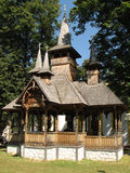 Wood church Stock Image