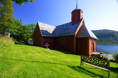 Wood church. In Norway. A really peaceful place Royalty Free Stock Photos